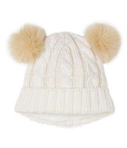 Gorro infantil para niña blanco Marshmallow / amarillo Or