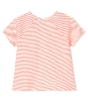 Camiseta de manga corta para bebé niña rosa Patience / blanco Marshmallow
