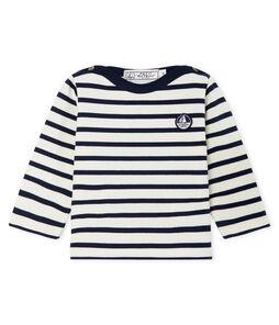 Jersey marinero emblemático para bebé unisex beige Coquille / azul Smoking