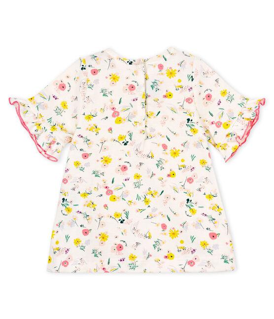 Blusa de manga corta estampado para bebé niña blanco Marshmallow / rosa Minois