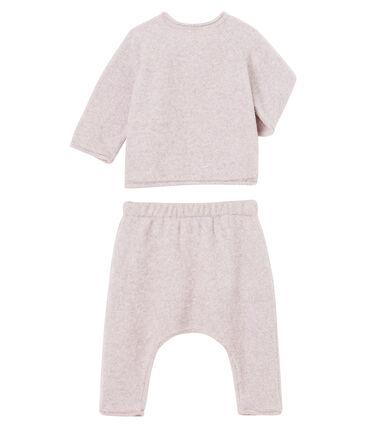 Conjunto de dos piezas para bebé niño, lana merinos y poliéster