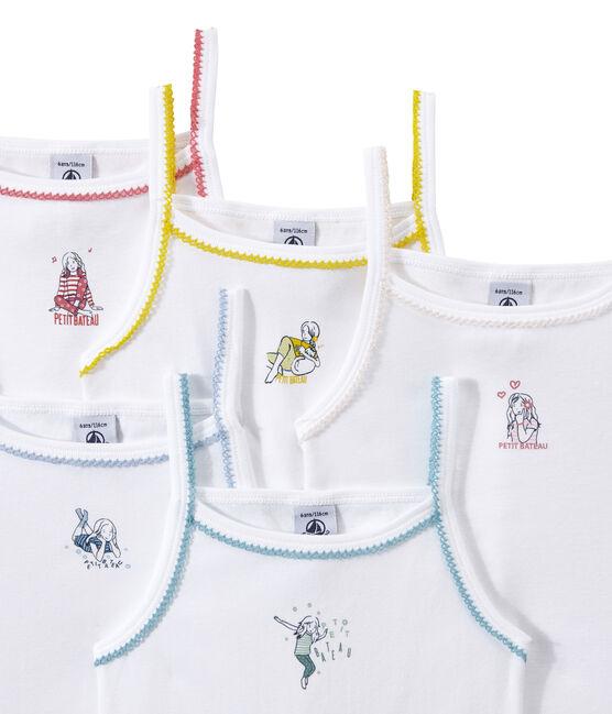 Lote de 5 camisetas de tirante fino estampadas para niña lote .