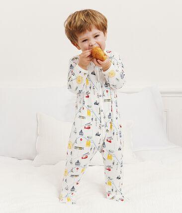 Pijama de punto para bebé niño blanco Marshmallow / blanco Multico
