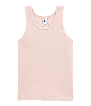 Camiseta sin mangas en lana y algodón