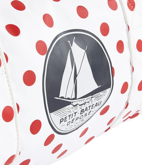 Bolsa para niño blanco Marshmallow / rojo Rouge