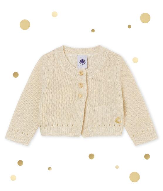 Bolero para bebé niña brillantes blanco Marshmallow / amarillo Dore