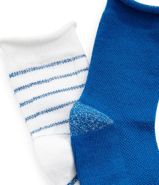 Juego de 2 pares de calcetines infantiles para niña lote .