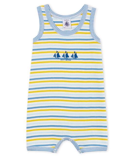 Mono corto de punto para bebé niño azul Alaska / blanco Multico
