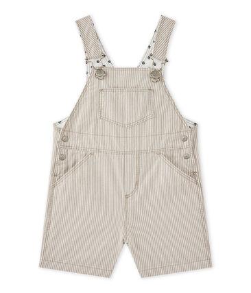 Peto corto para bebé niño gris Minerai / blanco Lait