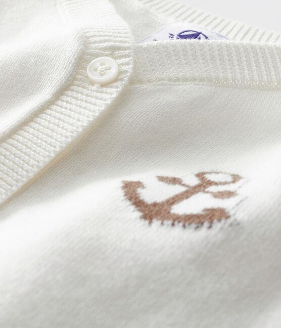 Cárdigan para bebé de niño blanco Marshmallow