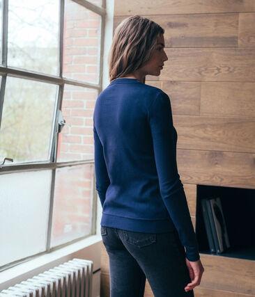Cárdigan icónico para mujer azul Smoking