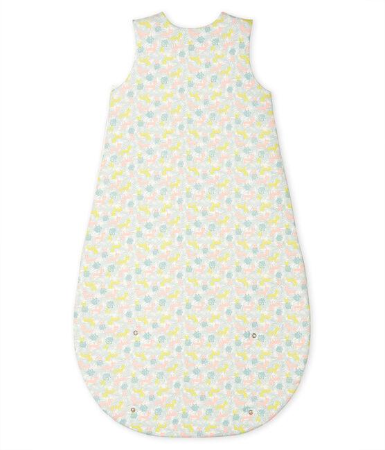 Saco de punto para bebé blanco Marshmallow / rosa Gretel