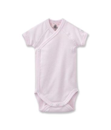 Unisex newborn baby milleraies bodysuit rosa Vienne / blanco Ecume