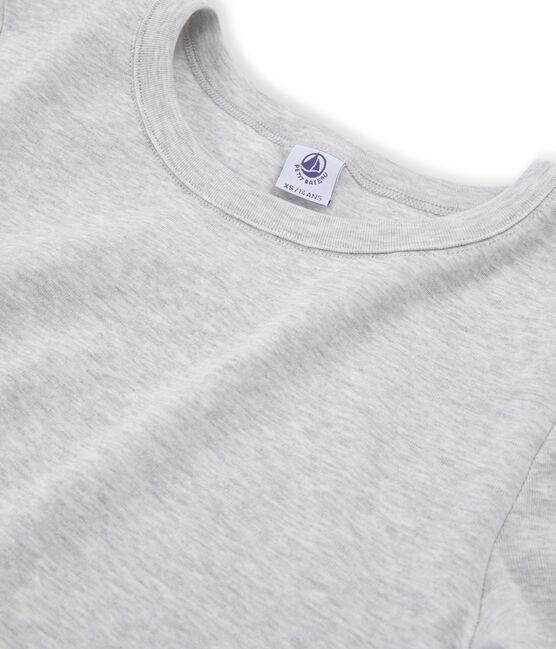 Camiseta de manga corta icónica de mujer gris Beluga