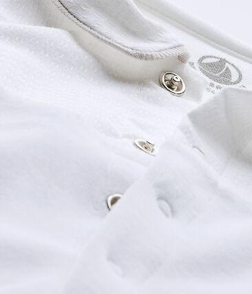 Pijama para bebé en terciopelo blanco Ecume