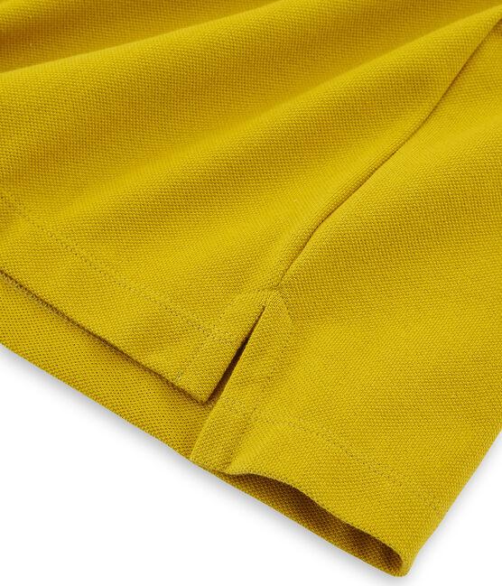 Polo manga corta para hombre amarillo Bamboo