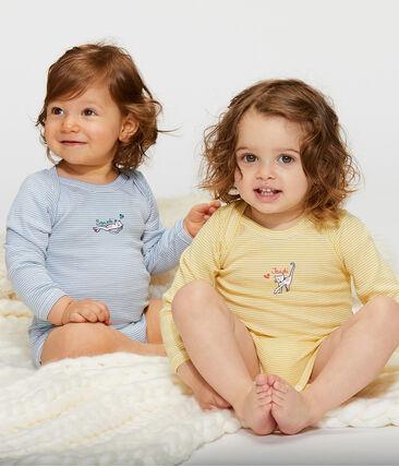Juego de 5 bodis de manga larga para bebé niña