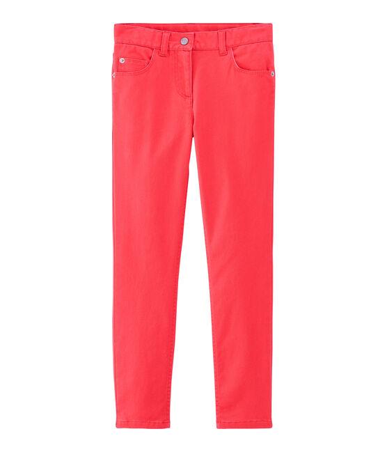 Pantalón infantil para niña rosa Groseiller
