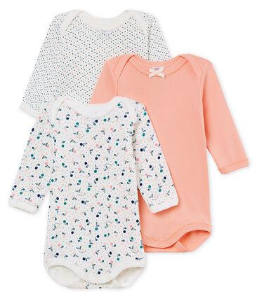 Tres bodis manga larga para bebé niña