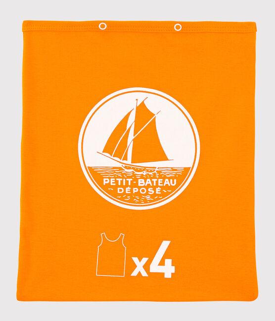 Caja sorpresa con 4 camisetas de tirantes para niño lote .