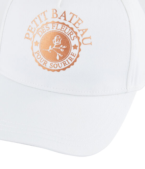 Gorra de sarga niña blanco Marshmallow