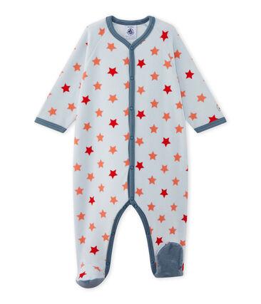 Pijama para bebé niño estampado de estrellas azul Fraicheur / naranja Orient