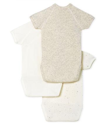 Tres bodis de nacimiento de manga corta para bebé