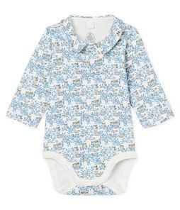 Body de nacimiento manga larga para bebé niño de punto