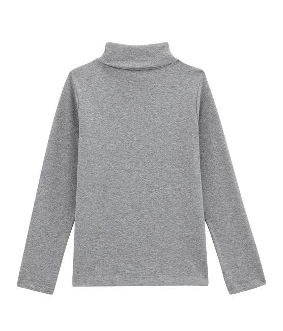 Jersey de cuello alto liso infantil unisex gris Subway