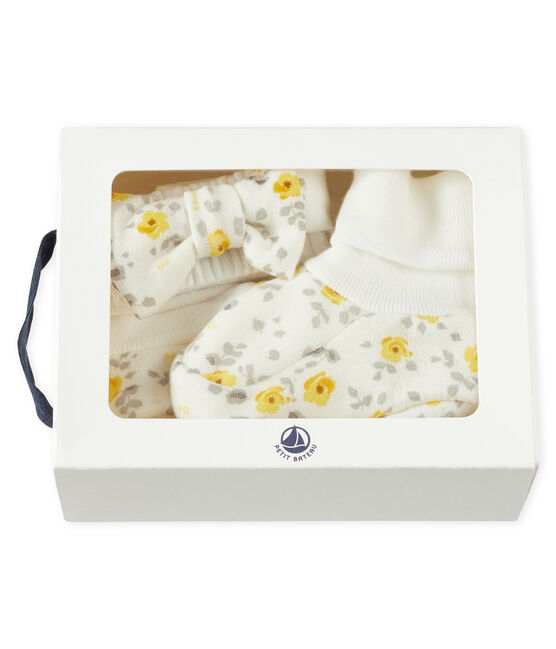 Lote de diadema y patucos para bebé niña de lana y algodón lote .