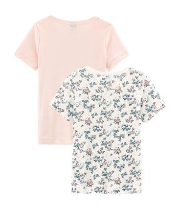 Par de camisetas de manga corta de algodón infantiles para niña lote .
