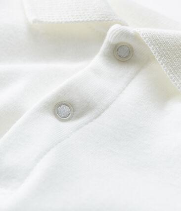 Body de manga larga con cuello de polo para bebé niño blanco Marshmallow