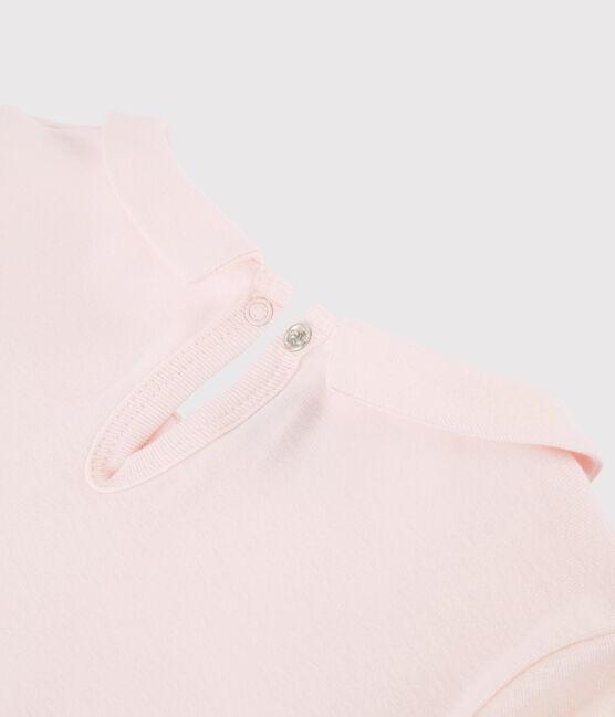 Camiseta de manga larga de algodón de niña rosa Fleur