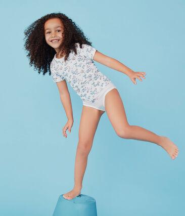 Par de camisetas de manga corta de algodón infantiles para niña