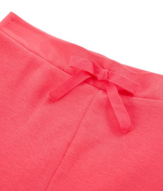 Bermudas de tela para niña rosa Groseiller