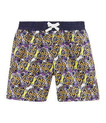 Shorts de playa para niño blanco Marshmallow / blanco Multico