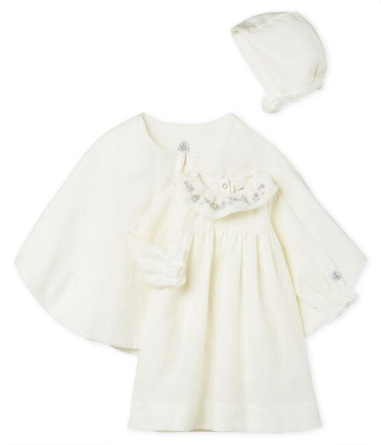 Conjunto 3 piezas ceremonial de lino para bebé niña lote .