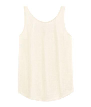 Camiseta de tirantes de lino para mujer blanco Marshmallow