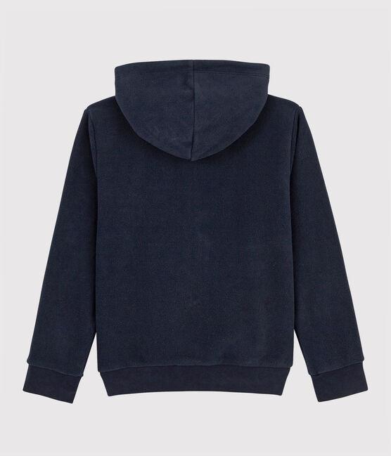 Sudadera con capucha en polar de niño azul Smoking
