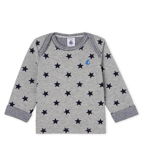 Camiseta de manga larga estampada para bebé niño gris Subway / azul Smoking