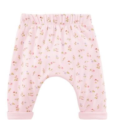 Pantalón para bebé mixto rosa Vienne / blanco Multico