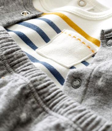 Conjunto de tres piezas en túbico Jacquard para bebé niño