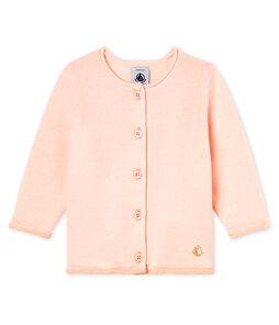 Cárdigan básica de punto de lana y algodón para bebé niña