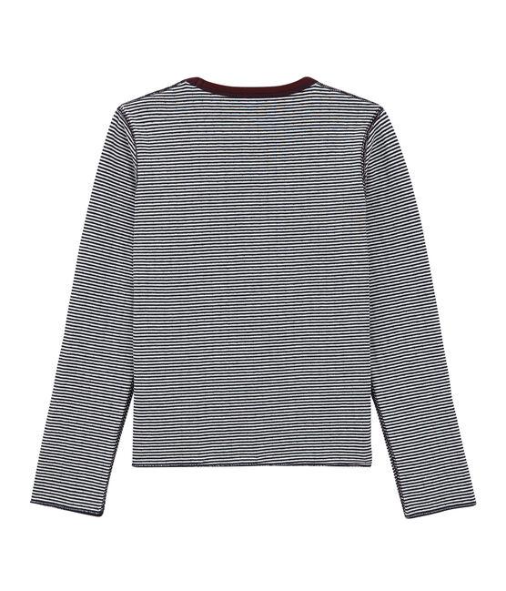 Camiseta de manga larga reversible rojo Ogre / blanco Multico