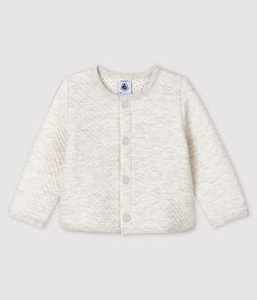 Cárdigan de tejido túbico para bebé niña gris Montelimar Chine