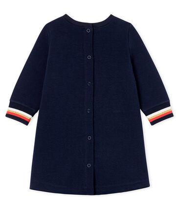 Vestido de manga larga para bebé niña azul Smoking