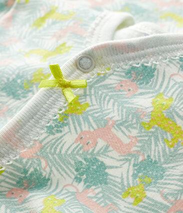 Pijama de muletón para bebé de niña blanco Marshmallow / blanco Multico
