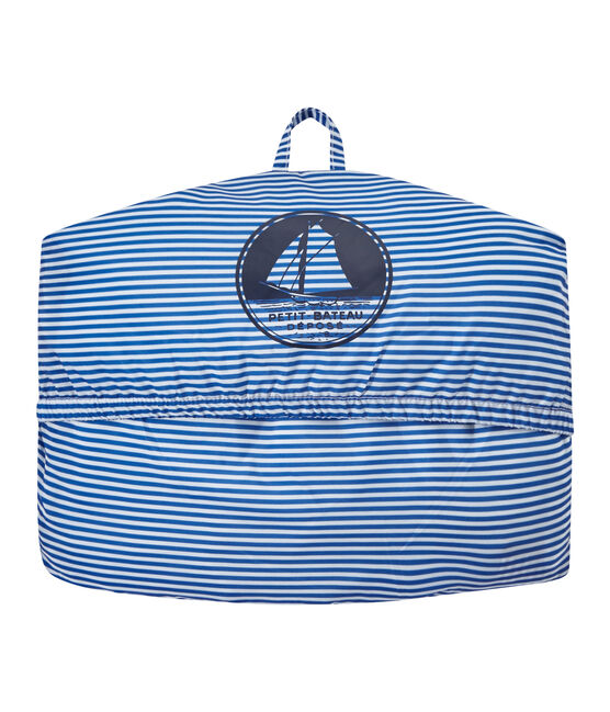 Cortavientos impermeable milrayas unisex azul Perse / blanco Marshmallow