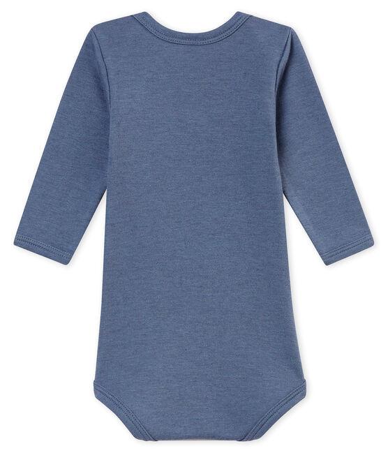 Body de manga larga para bebé niño azul Turquin