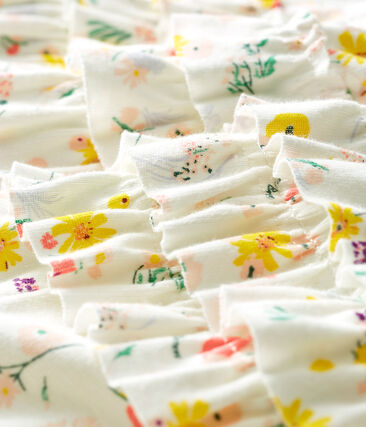 Braguita «bloomer» estampada para bebé niña blanco Marshmallow / blanco Multico